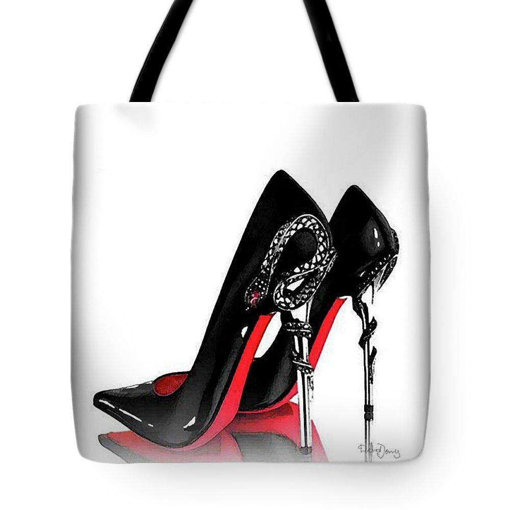 756164066af Christian Louboutin Shoes Print Tote Bag