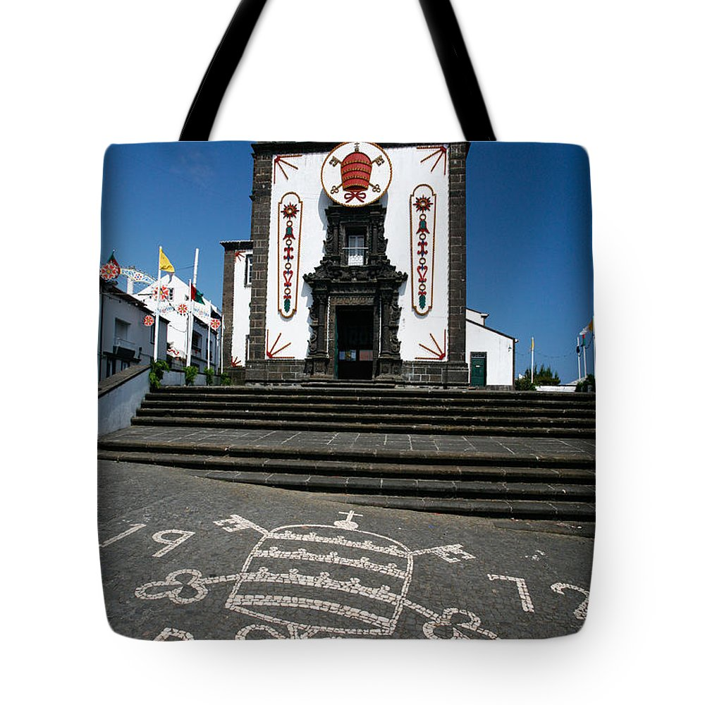 Architecture Tote Bag featuring the photograph Church In The Azores by Gaspar Avila
