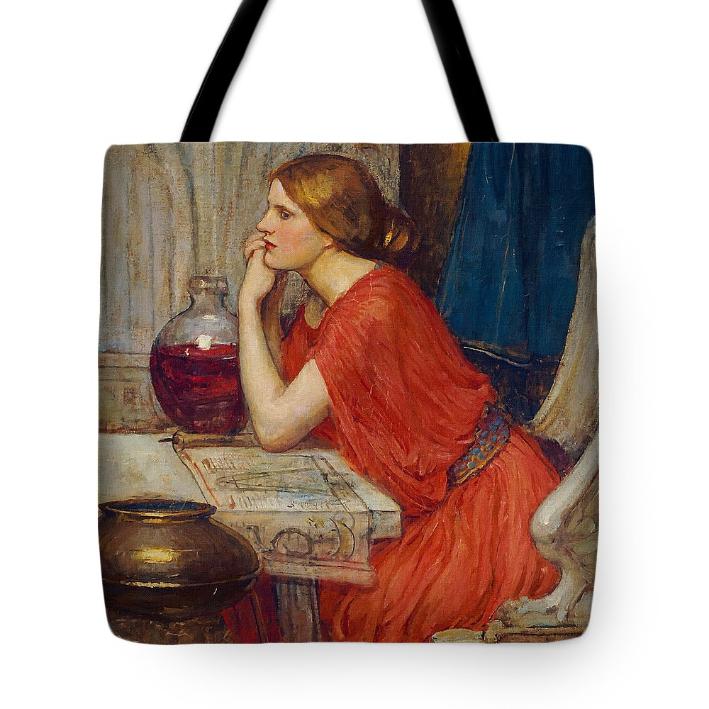 John William Waterhouse Tote Bag featuring the painting Circe by John William Waterhouse
