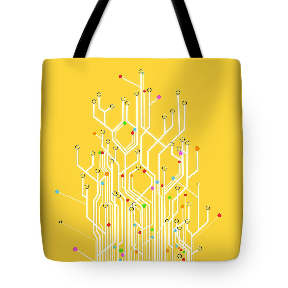 Abstract Tote Bag featuring the photograph Circuit Board Graphic 1 by Setsiri Silapasuwanchai