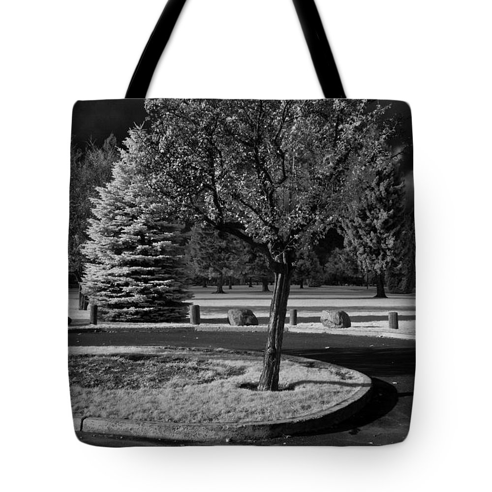 Infrared Tote Bag featuring the photograph City Beach In Infrared by Lee Santa