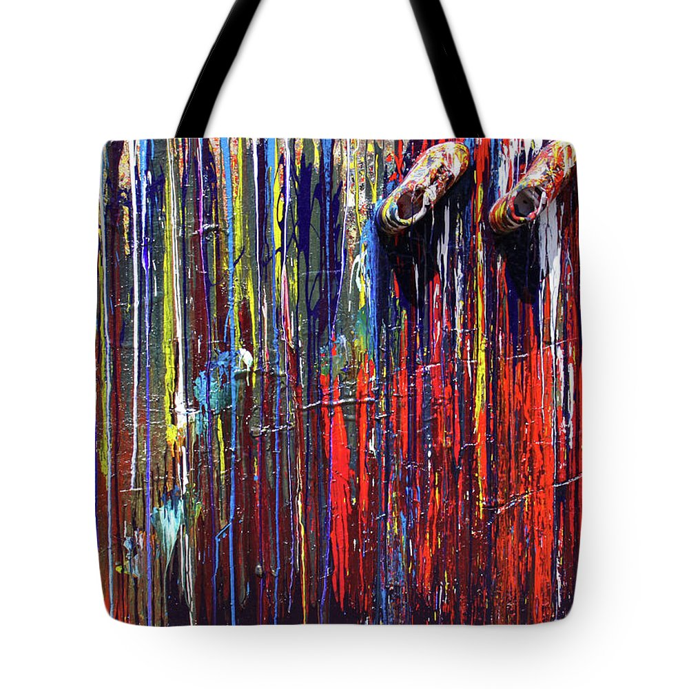 Fusionart Tote Bag featuring the painting Climbing the Wall by Ralph White