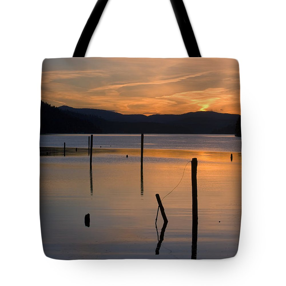 Coeur D Alene Tote Bag featuring the photograph Cloud Dance by Idaho Scenic Images Linda Lantzy