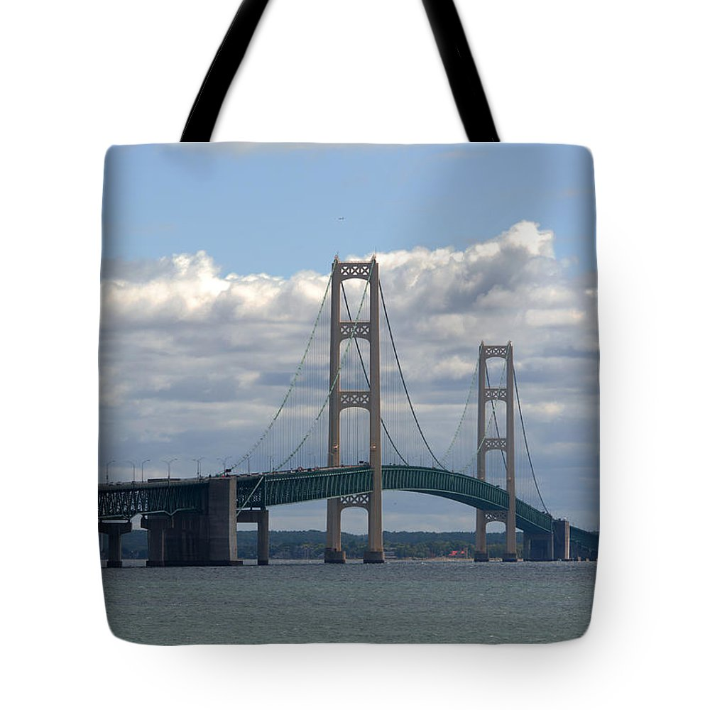 Michigan Tote Bag featuring the photograph Cloudy Day by Linda Kerkau