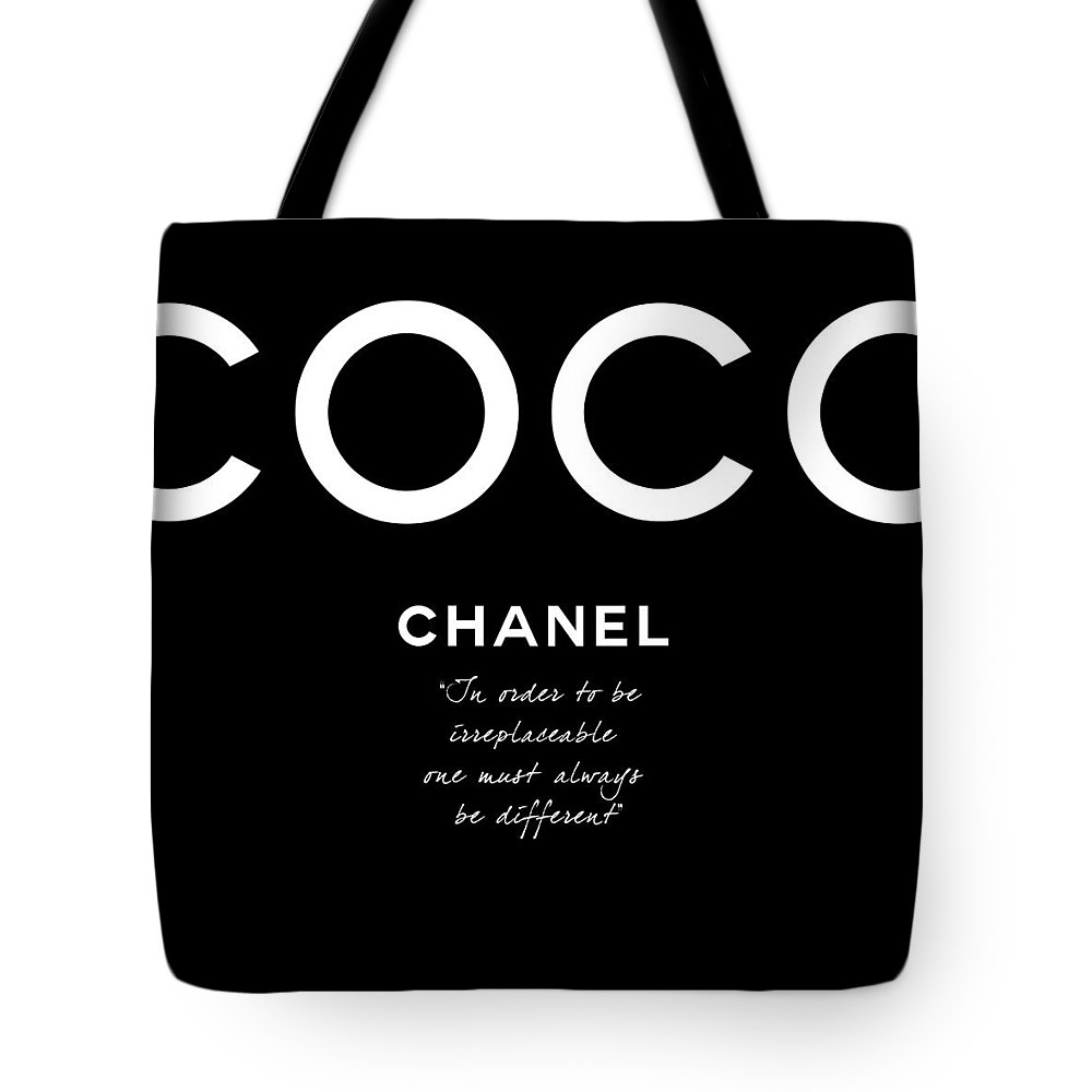 2b912203d3f8d5 Coco Chanel Irreplaceable Quote Tote Bag for Sale by Tres Chic