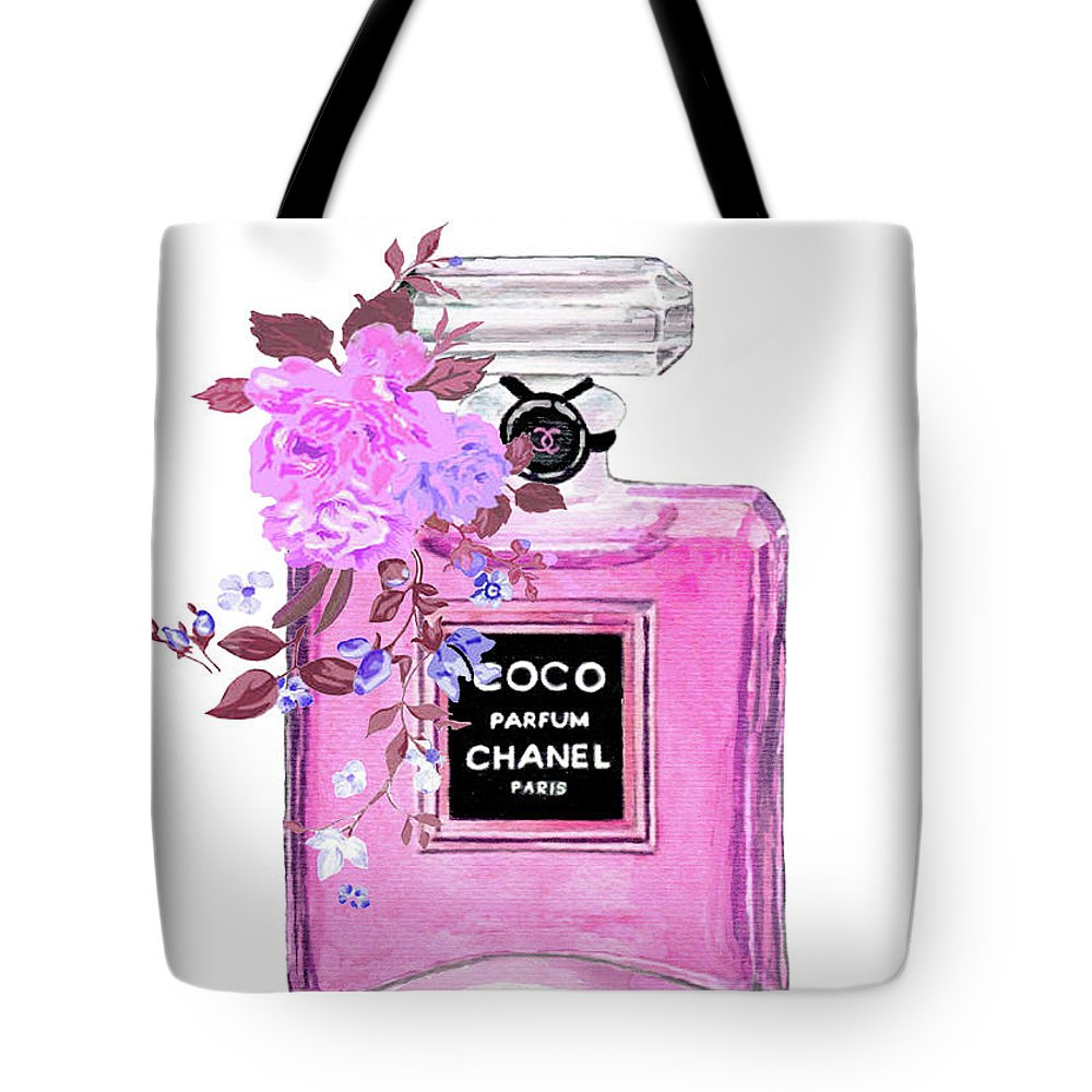 3c994d2436d90c Coco Chanel Perfume Tote Bag for Sale by Del Art