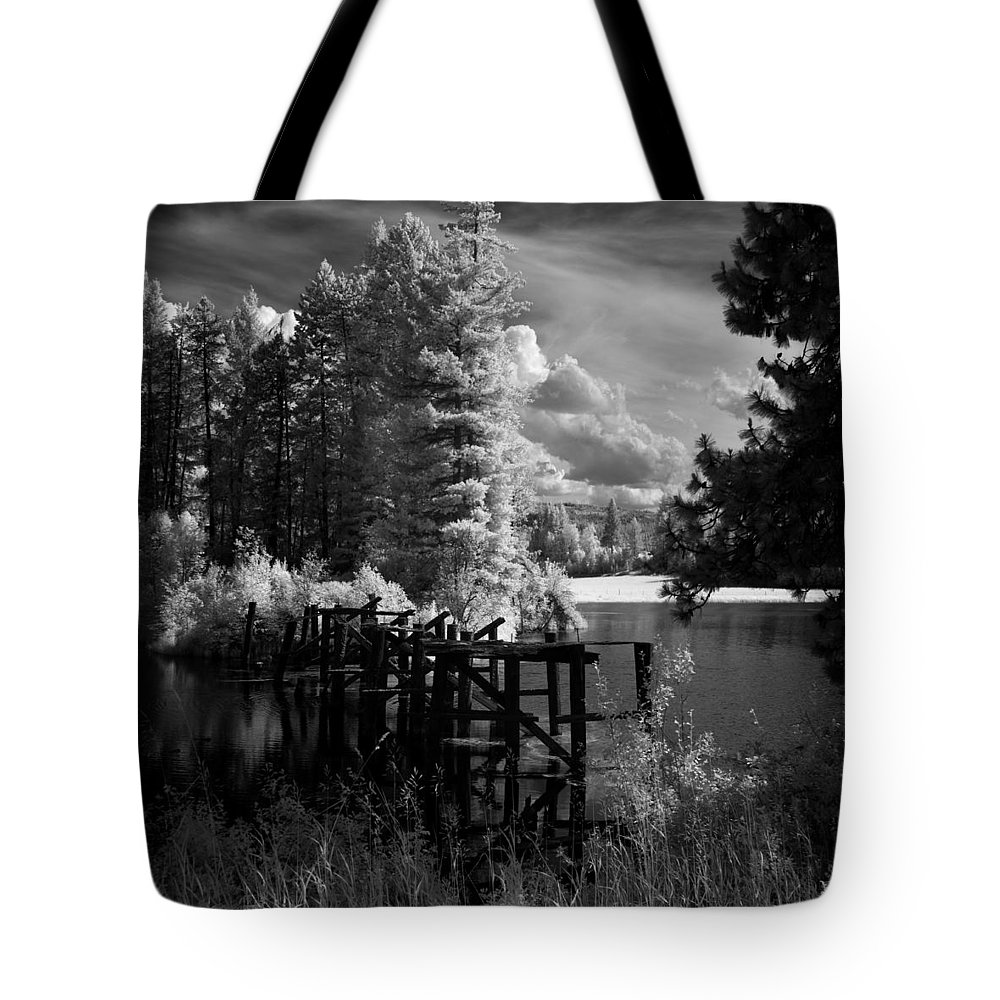 Landscape Tote Bag featuring the photograph Cocolala Creek Slough by Lee Santa