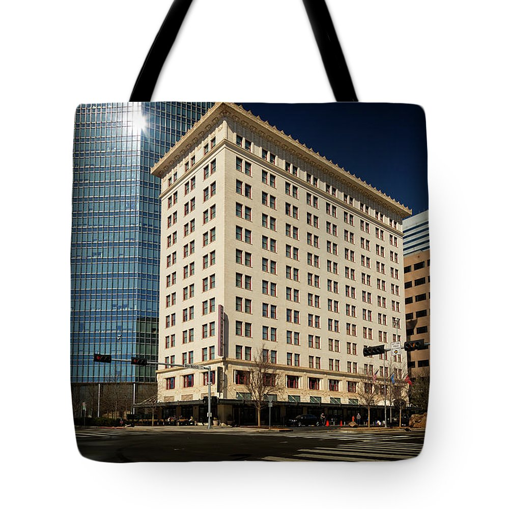 Okc Tote Bag featuring the photograph Colcord by Ricky Barnard