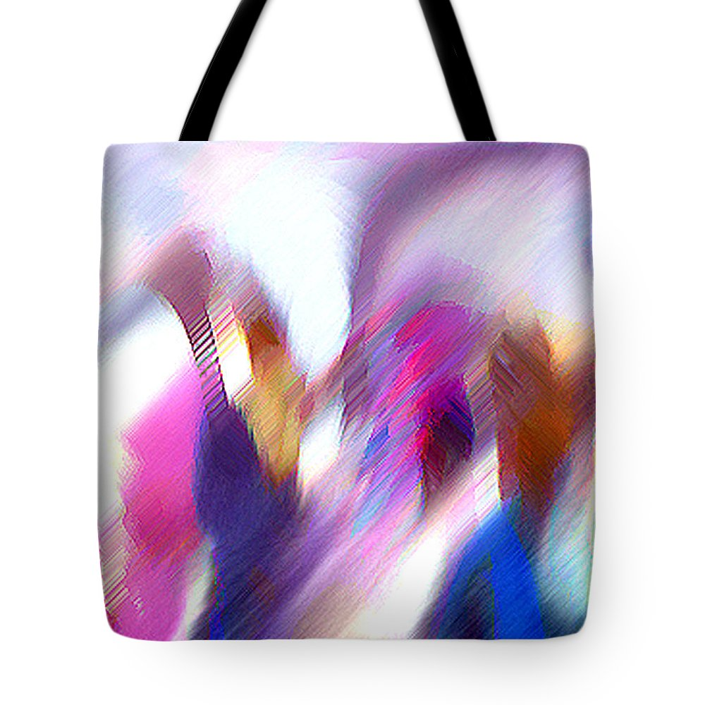 Digital Media Tote Bag featuring the painting Color Dance by Anil Nene