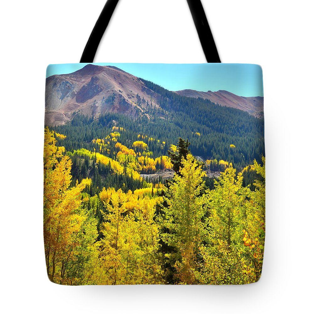 Colorado Tote Bag featuring the photograph Colorado Fall Colors by Ray Mathis