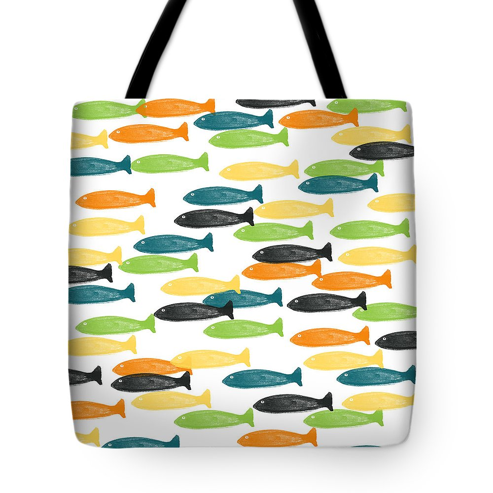 Fish Tote Bag featuring the painting Colorful Fish by Linda Woods