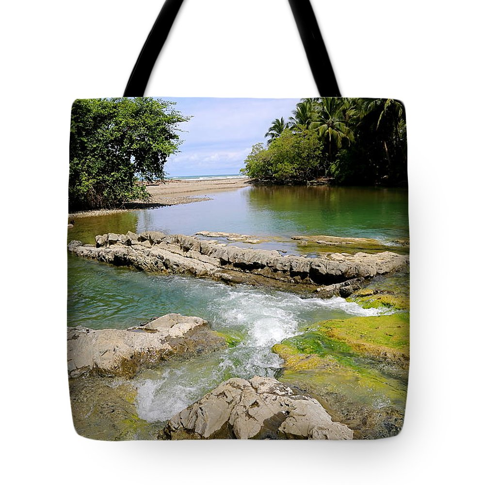 Costa Rica Tote Bag featuring the photograph Colorful Waterway by Marc Levine