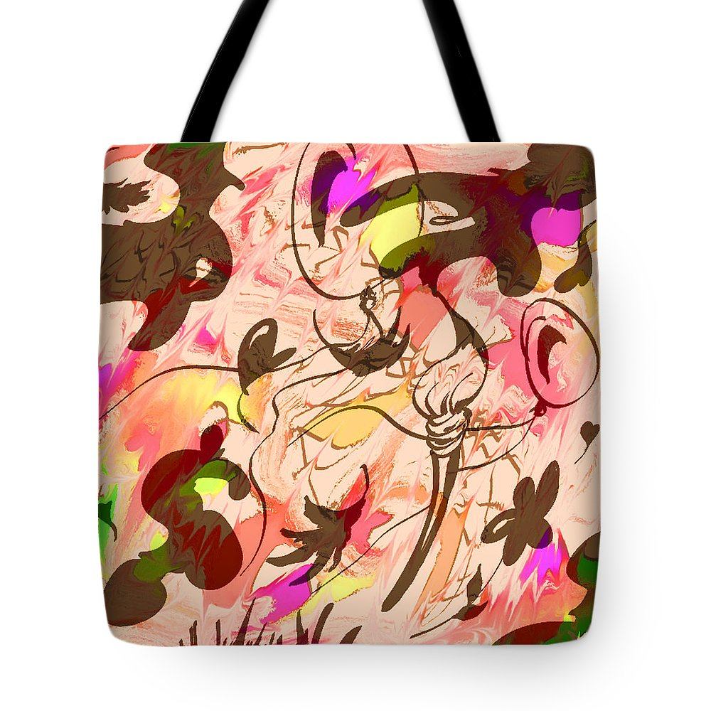 Abstract Tote Bag featuring the digital art Colors In The Wind by Rachel Christine Nowicki
