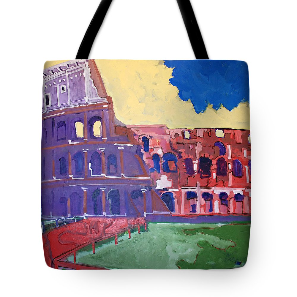 Rome Tote Bag featuring the painting Colosseum by Kurt Hausmann