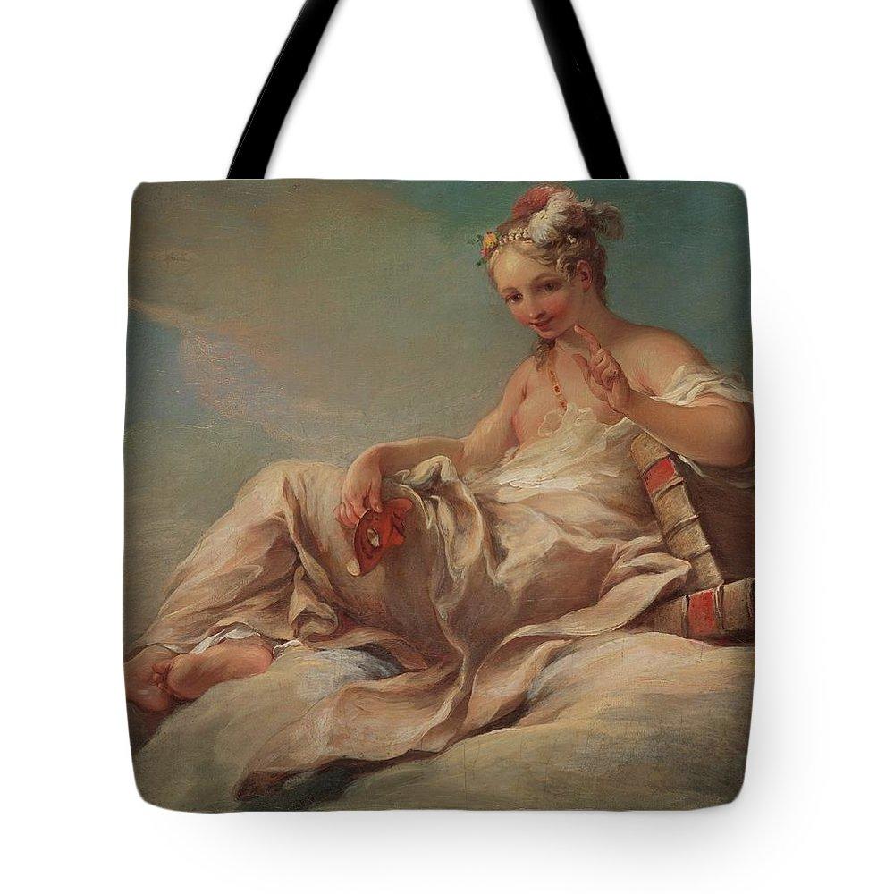 Pierre Charles Trmolires Comedy Tote Bag featuring the painting Comedy by Pierre Charles Trmolires