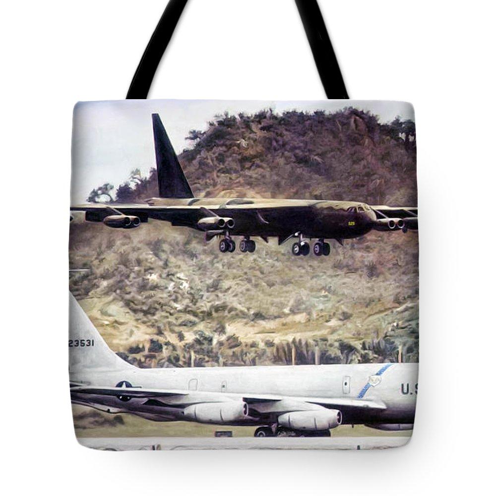 Boeing Digital Art Tote Bags