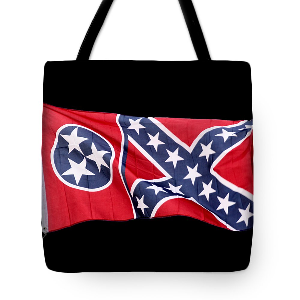 Confederate Flag Tote Bag featuring the photograph Confederate-flag by Ericamaxine Price