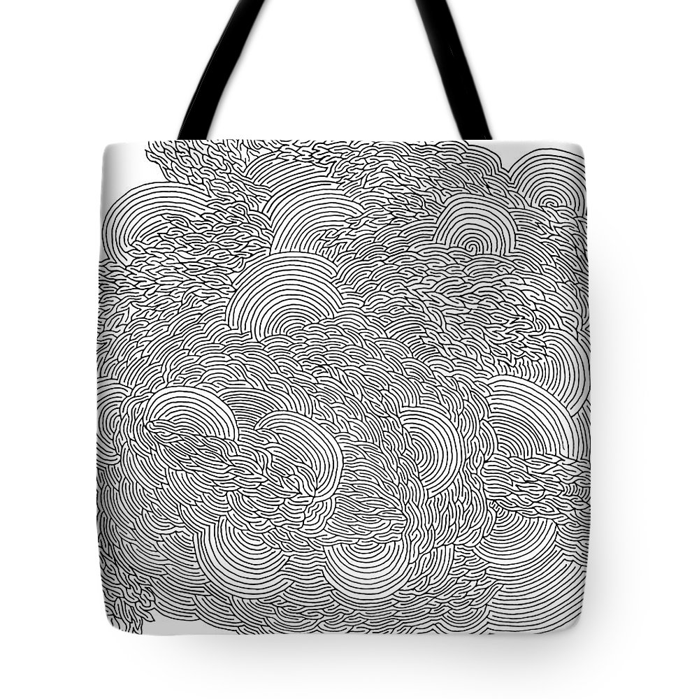 Mazes Tote Bag featuring the drawing Confusion by Steven Natanson