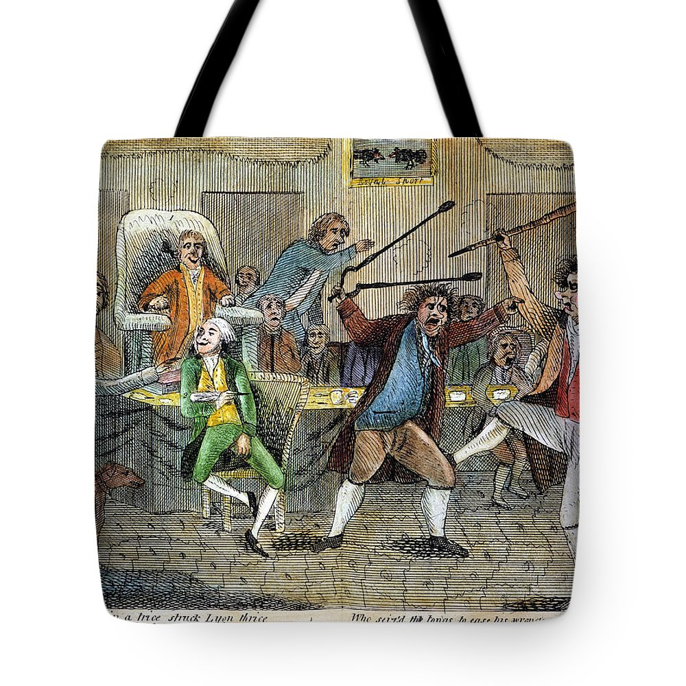 1798 Tote Bag featuring the photograph Congressional Pugilists by Granger