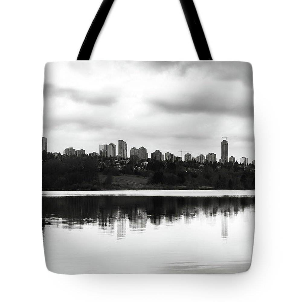 City Tote Bag featuring the photograph Contemplating Contrasts by Lisa Knechtel