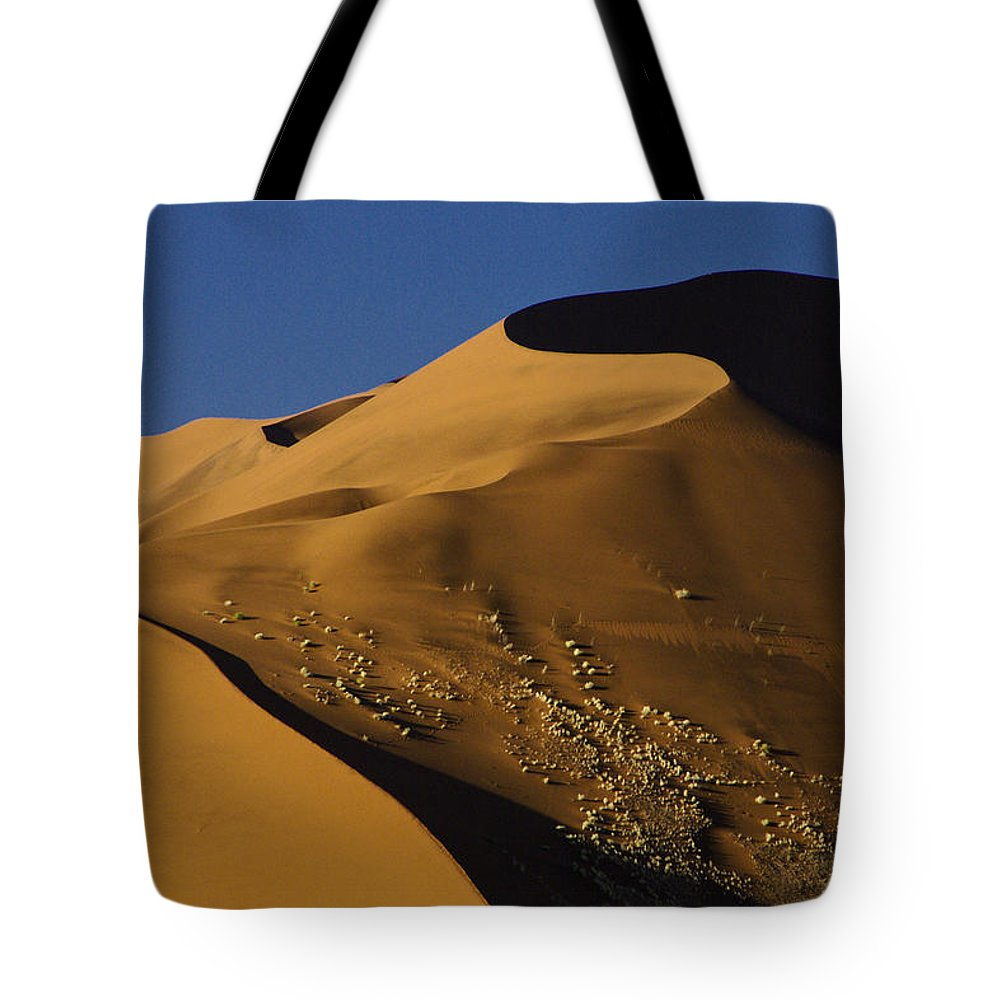Africa Tote Bag featuring the photograph Contours Of Sossusvlei by Michele Burgess