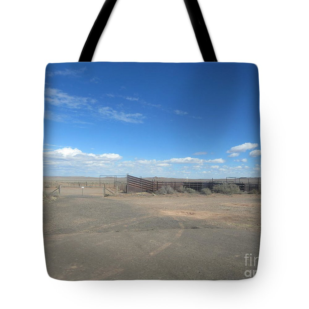 Corral Tote Bag featuring the photograph Corral by Frederick Holiday