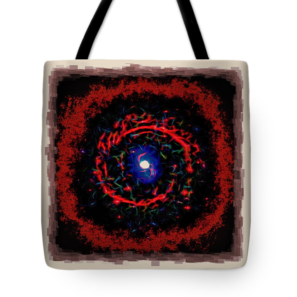 Abstract Tote Bag featuring the photograph Cosmic Eye 2 by John M Bailey