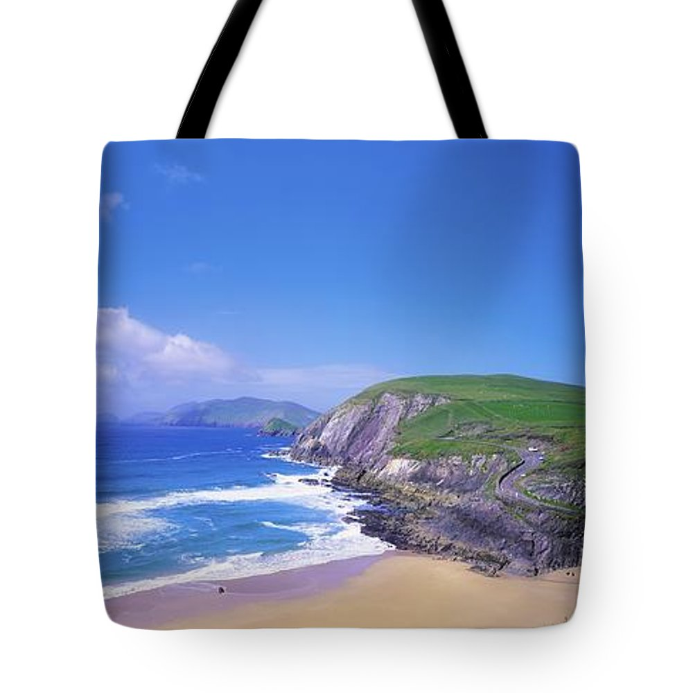 Beach Tote Bag featuring the photograph Coumeenoole Beach, Dingle Peninsula, Co by The Irish Image Collection
