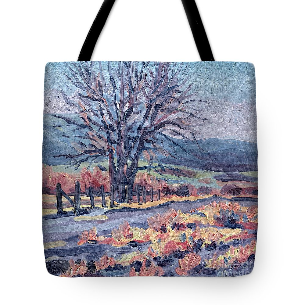 Road Tote Bag featuring the painting Country Road by Donald Maier