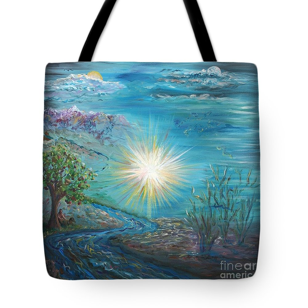 Creation Tote Bag featuring the painting Creation by Nadine Rippelmeyer