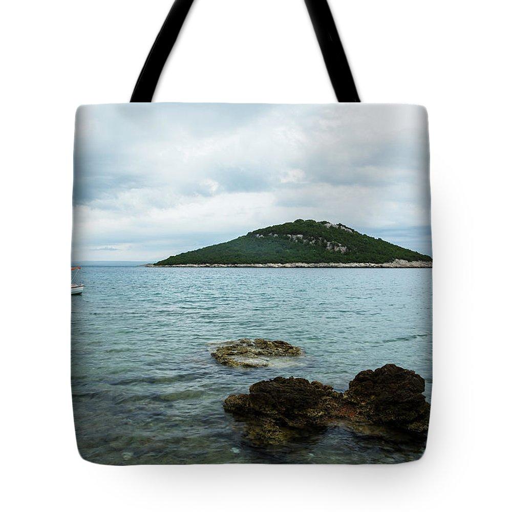 Losinj Tote Bag featuring the photograph Cunski Beach And Coastline, Losinj Island, Croatia by Ian Middleton