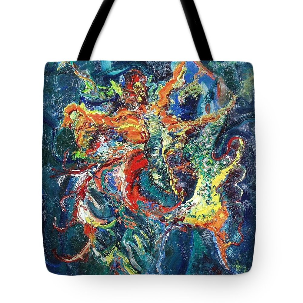 Butterfly Paintings Tote Bag featuring the painting Dancing Butterflies by Seon-Jeong Kim