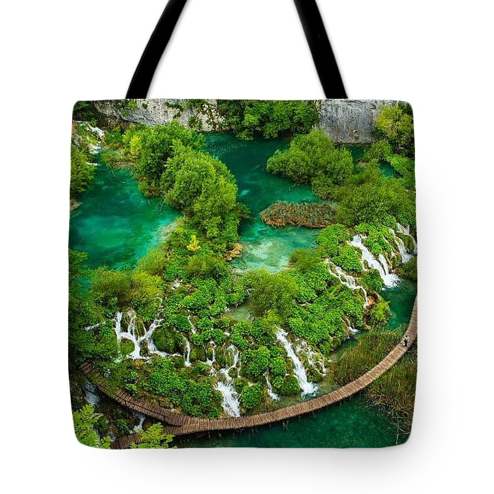 Dave Ruberto - Wonderful Green Tote Bag featuring the photograph Dave Ruberto - Wonderful Green Nature Waterfall Landscape by Dave Ruberto