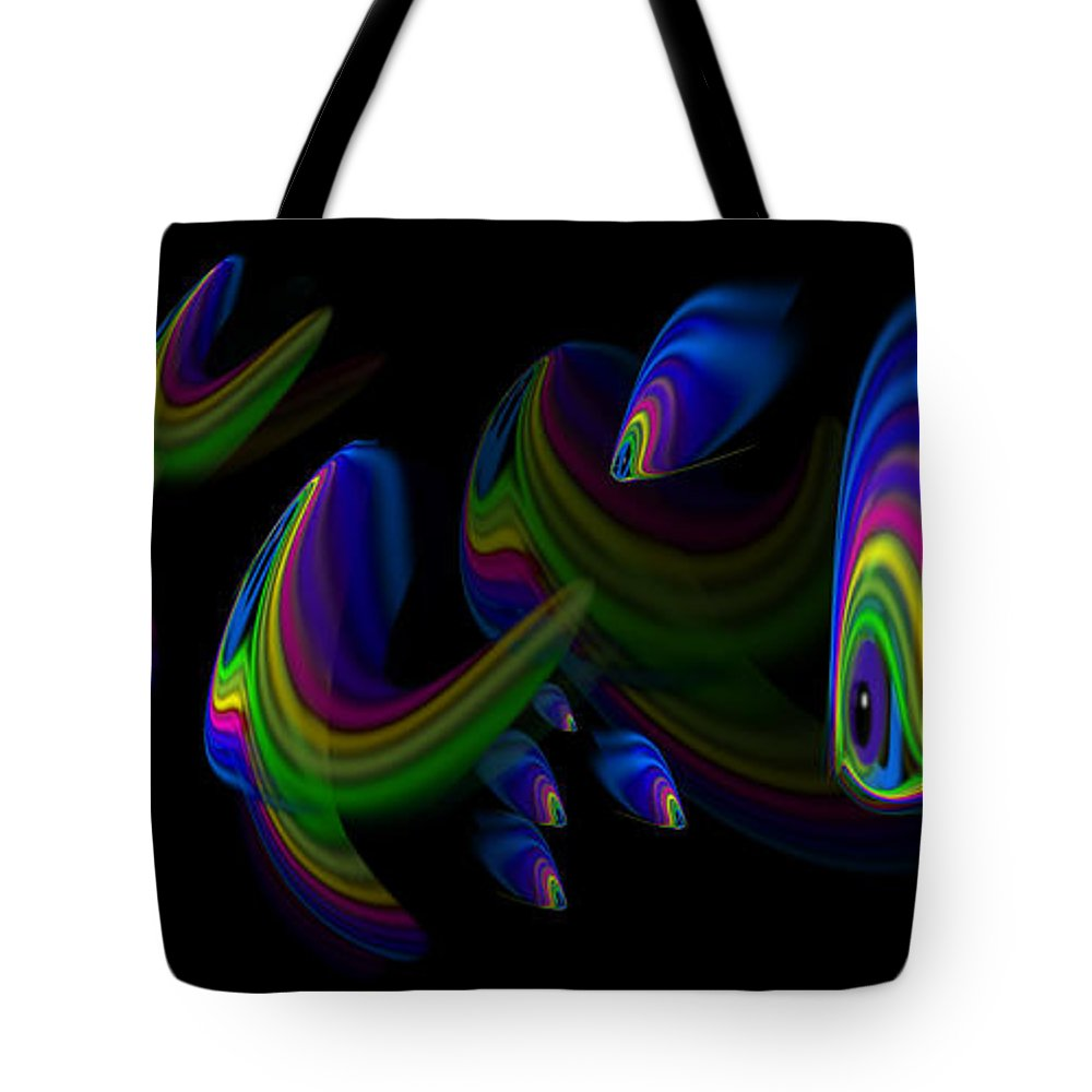 Blue Tote Bag featuring the painting Deep Blue by Charles Stuart