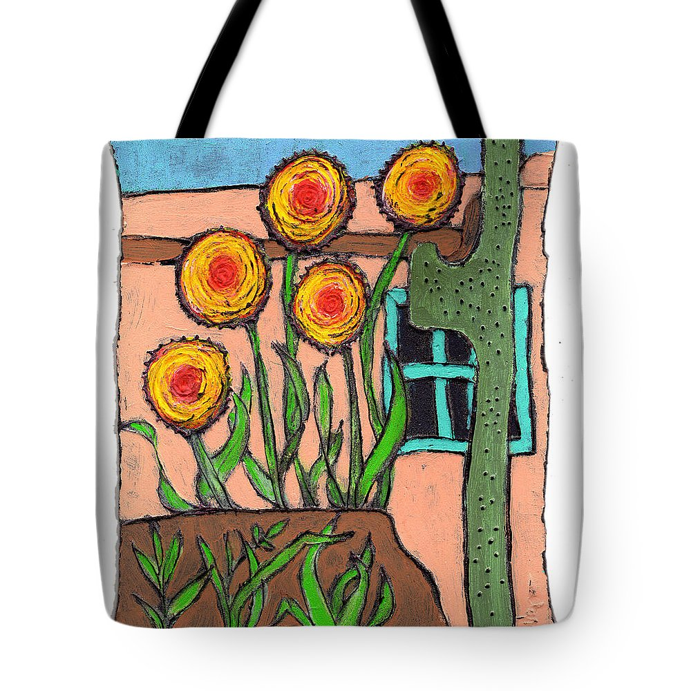 Desert Tote Bag featuring the painting Desert Fantasy by Wayne Potrafka