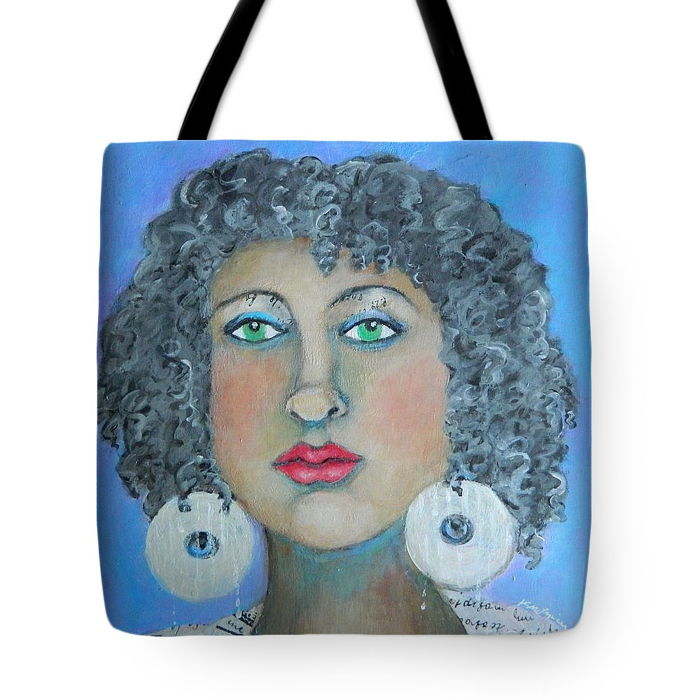 Woman Tote Bag featuring the painting Determined by Kate Marion Lapierre