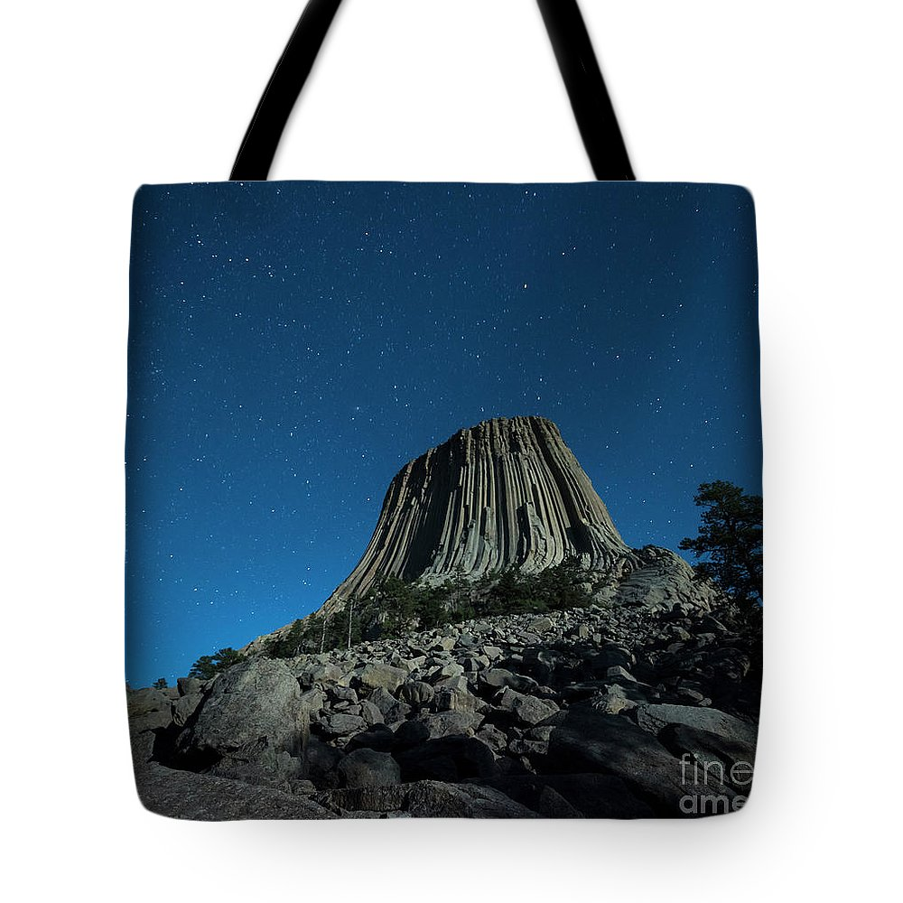Adventure Tote Bag featuring the photograph Devil's Tower by Juli Scalzi