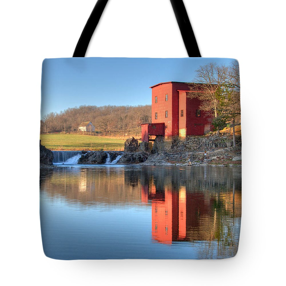 Grist Mill Tote Bag featuring the photograph Dillard Mill by Steve Stuller