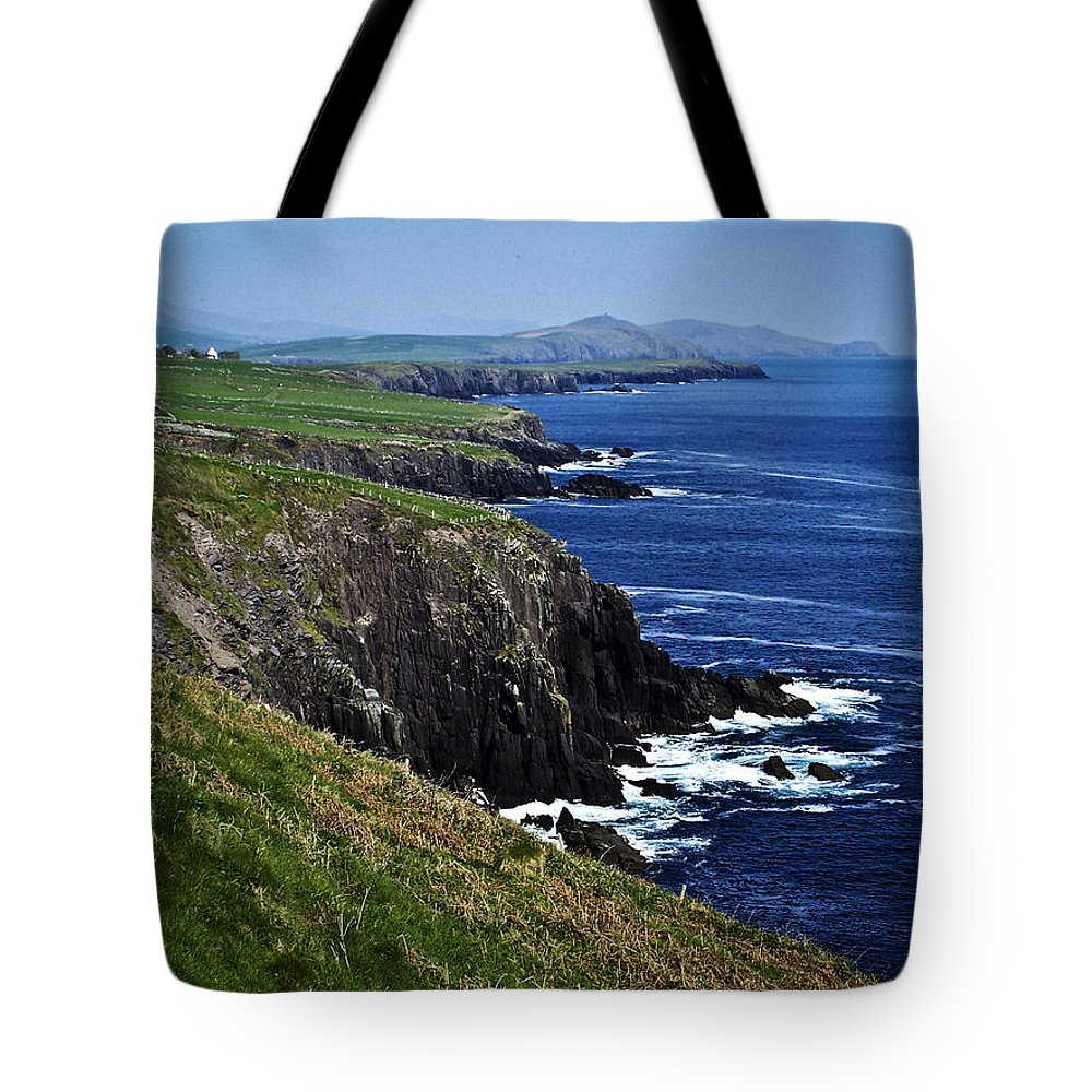 Irish Tote Bag featuring the photograph Dingle Coastline Near Fahan Ireland by Teresa Mucha
