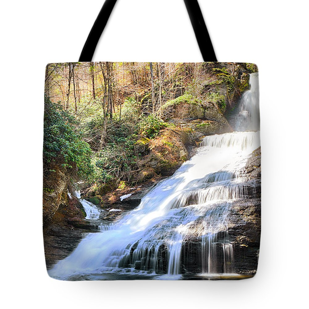 Water Tote Bag featuring the photograph Dingmans Falls by Paul Fell