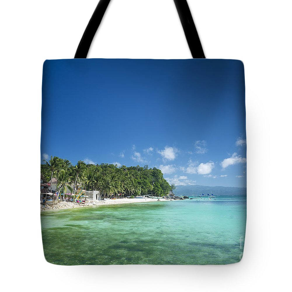 Asia Tote Bag featuring the photograph Diniwid Beach In Tropical Paradise Boracay Philippines by Jacek Malipan
