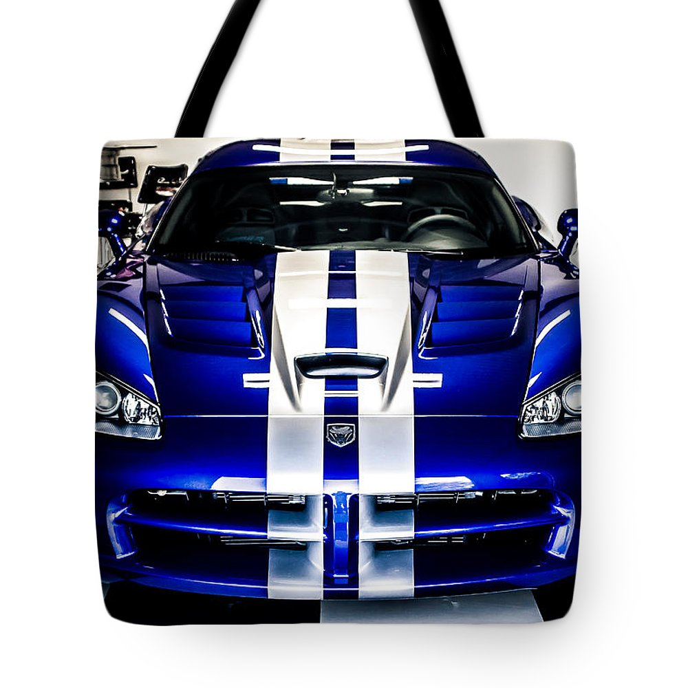 Dodge Viper Tote Bag featuring the photograph Dodge Viper by Mark Maloney