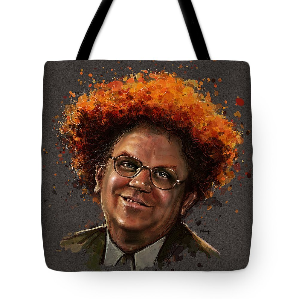 Dr. Steve Brule Tote Bag featuring the painting Dr. Steve Brule by Fay Helfer