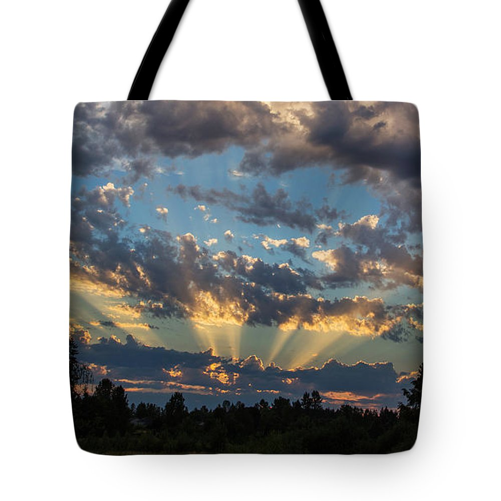 Sky Tote Bag featuring the photograph Dramatic Skies by Angie Vogel