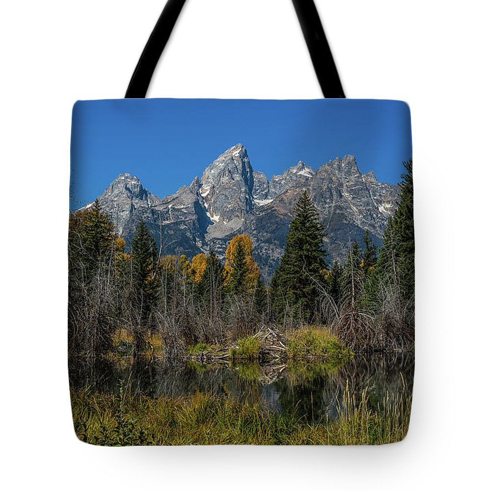 Schwabacher's Landing Tote Bag featuring the photograph Dressed For Fall by Yeates Photography