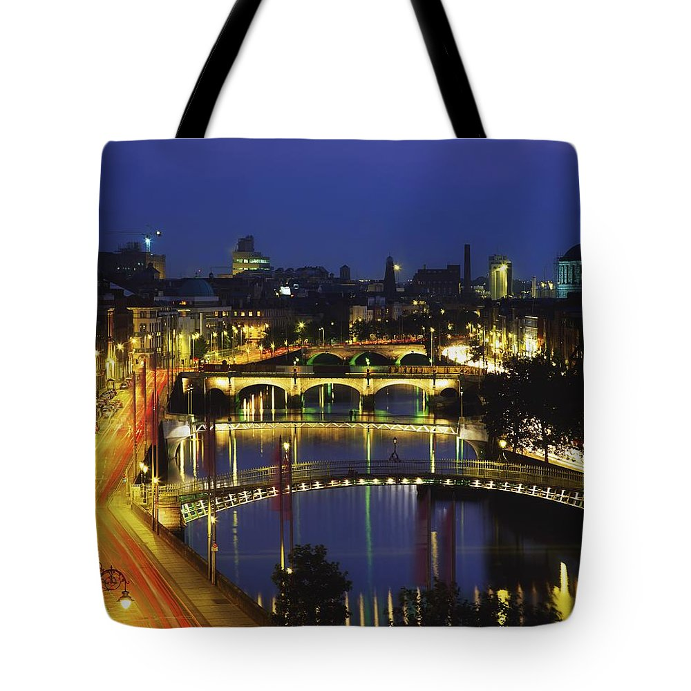Highway Tote Bag featuring the photograph Dublin, Co Dublin, Ireland View Of The by The Irish Image Collection