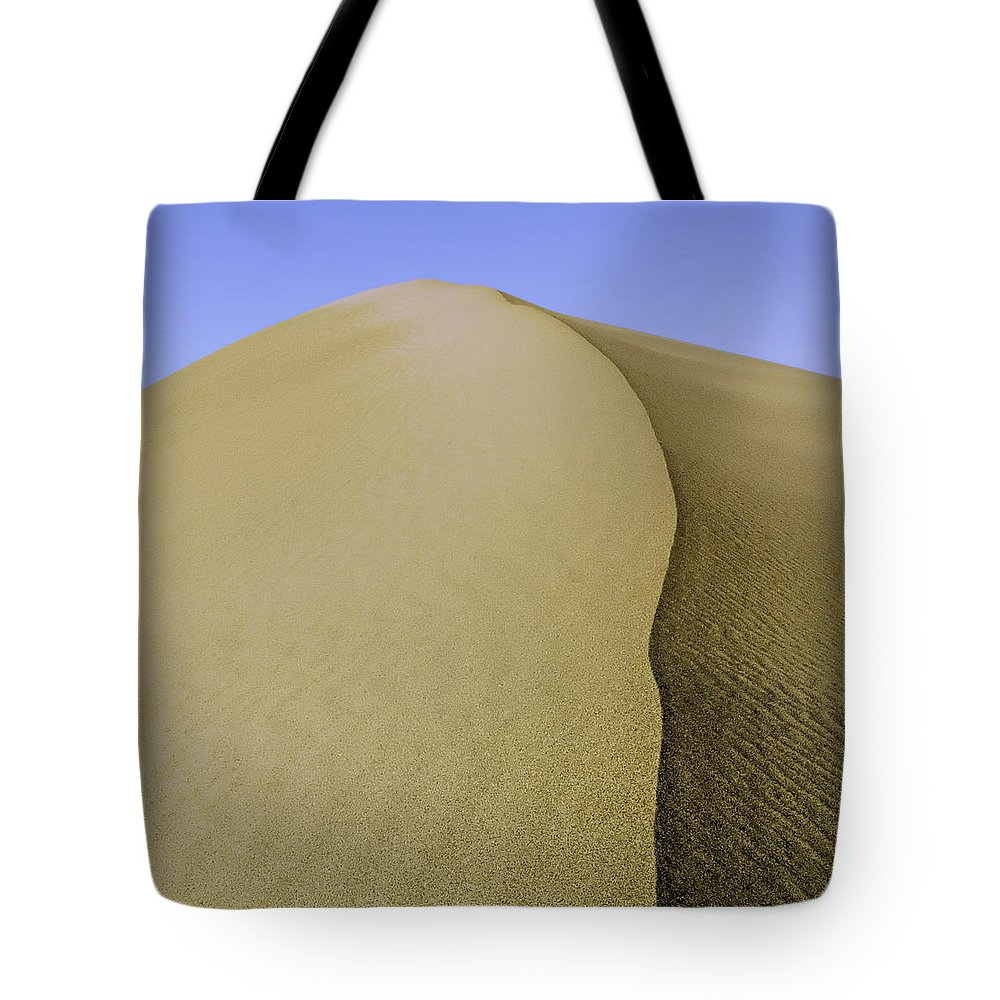 Death Valley Tote Bag featuring the photograph Dunes Three by Paul Basile
