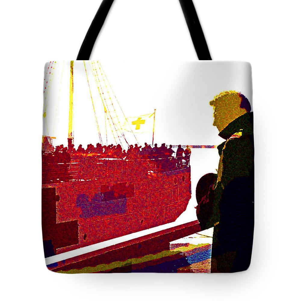 Dunkirk Tote Bag featuring the digital art Dunkirk by Lora Battle