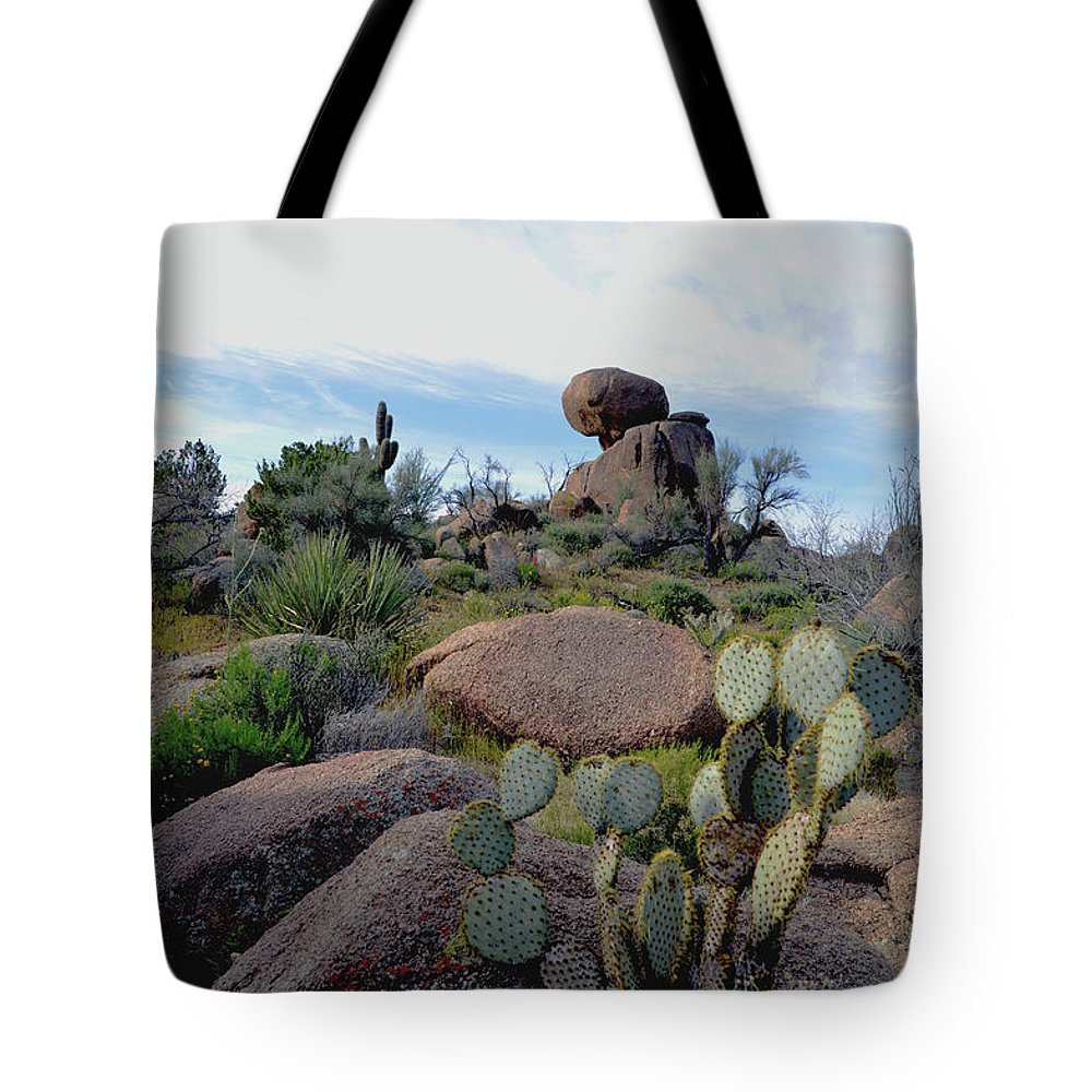 Barbara Snyder Tote Bag featuring the photograph Dusk In The Desert by Barbara Snyder