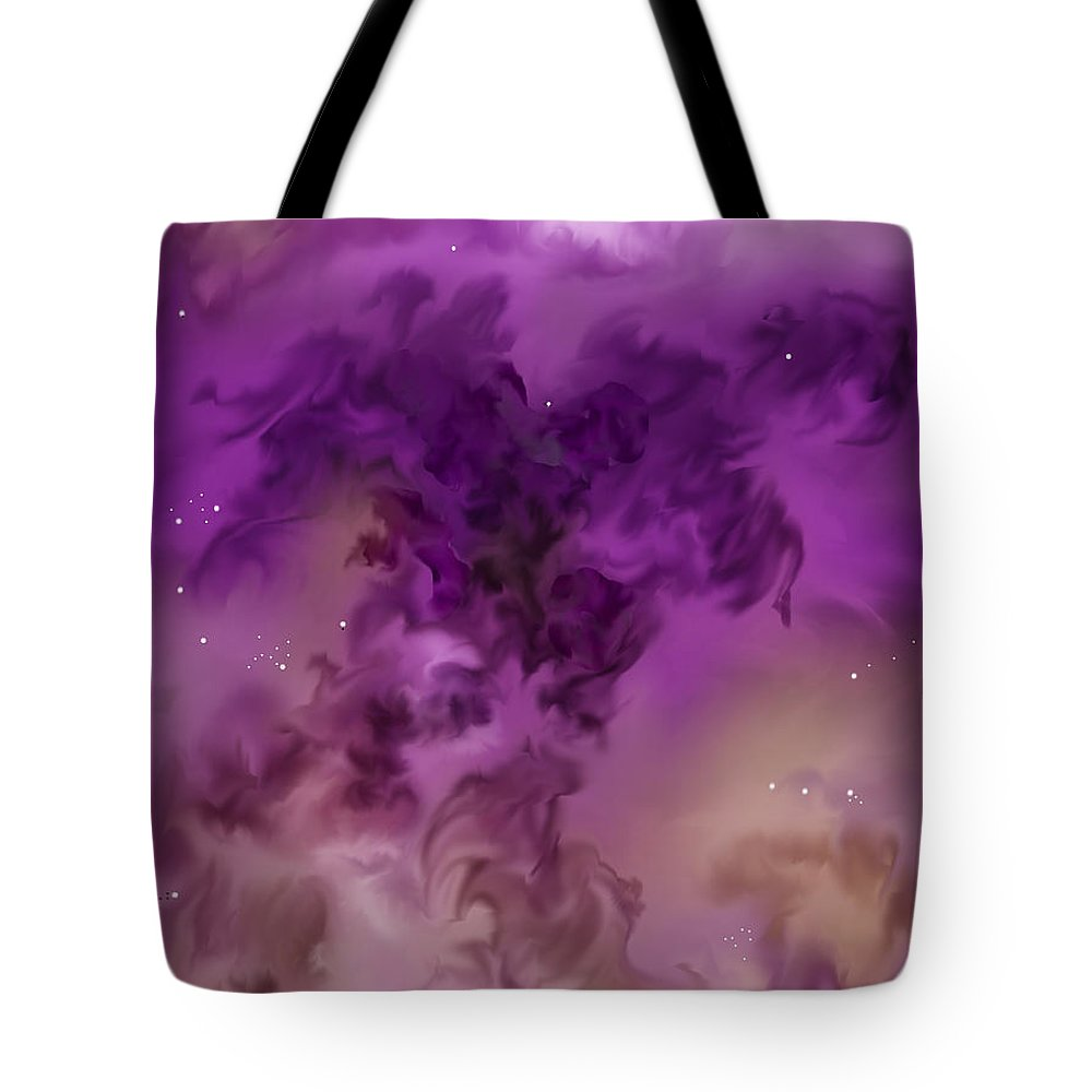 Starscape Tote Bag featuring the painting Eagle Nebula From The Hubble by Anne Norskog